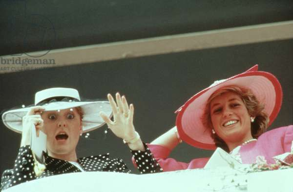DUCHESS OF YORK SARAH FERGUSON (Fergie) and PRINCESS DIANA (Diana Spencer), 1987