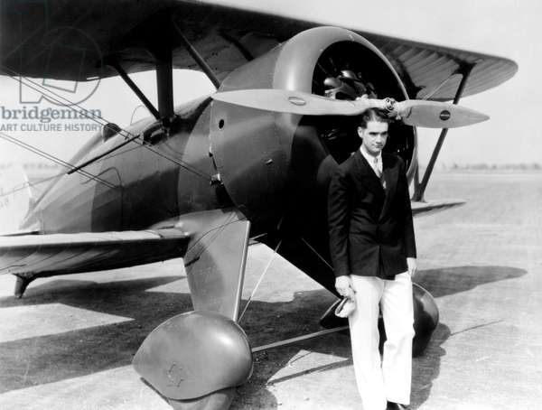 Howard Hughes, with Boeing Pursuit Plane, (no date)