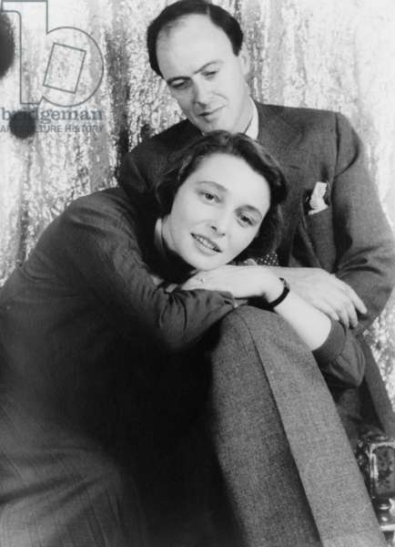 Roald Dahl (1916-1990), British author with his wife, Actress Patricia Neal (b. 1926) in 1954 portrait by Carl Van Vechten