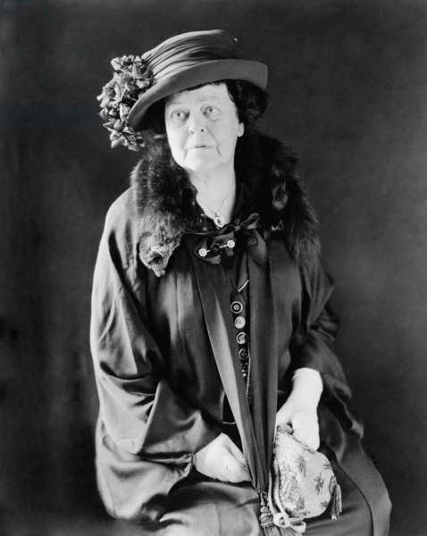 Alva E. Belmont (1853-1933), wealthy socialite, was an activist for women's suffrage in both Britain and the United States. With Alice Paul, she founded the National Woman's Party, and was its president from 1917-1933. c. 1924