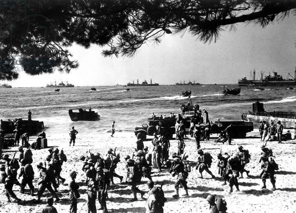 D-Day, Alpha Red Beach (D-Day), Operation Dragoon, Normandy, France, August 1944