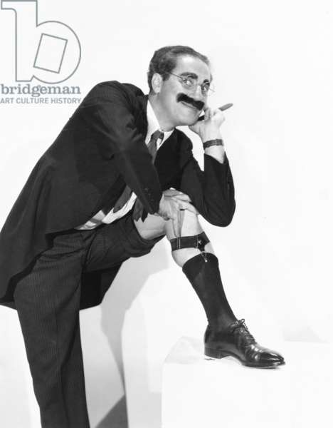 Groucho Marx strikes an alluring pose. 1936
