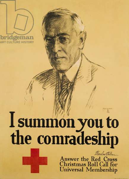 I summon you to the comradeship: Answer the Red Cross Christmas Roll Call for Universal Membership, 1918 (poster)