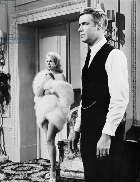 THE CARPETBAGGERS, from left: Martha Hyer, George Peppard, 1964