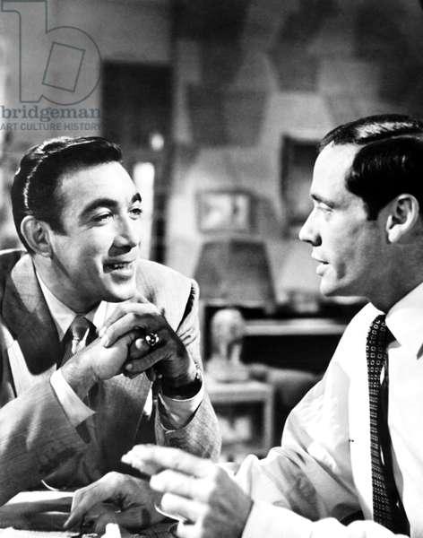 THE BRAVE BULLS, from left Anthony Quinn, Mel Ferrer, 1951