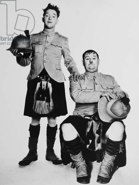 BONNIE SCOTLAND, from left: Stan Laurel, Oliver Hardy, 1935