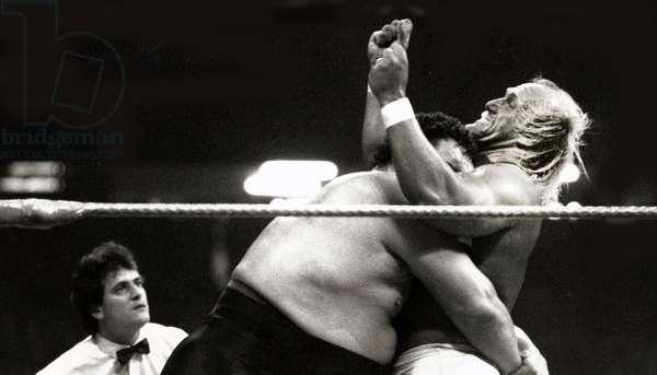 Hulk Hogan, Andre the Giant, 1987 (photo)