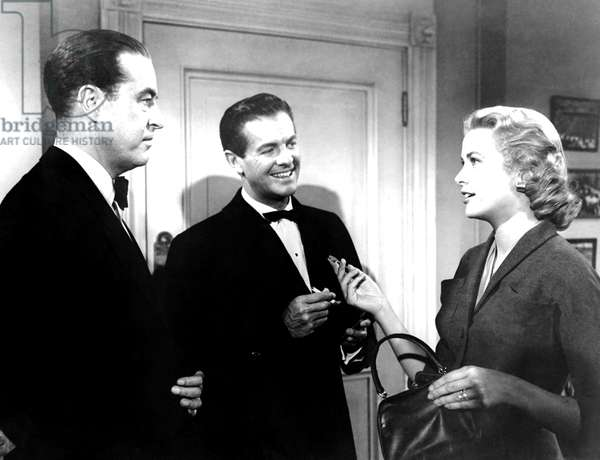 DIAL M FOR MURDER, from left, Ray Milland, Robert Cummings, Grace Kelly, 1954