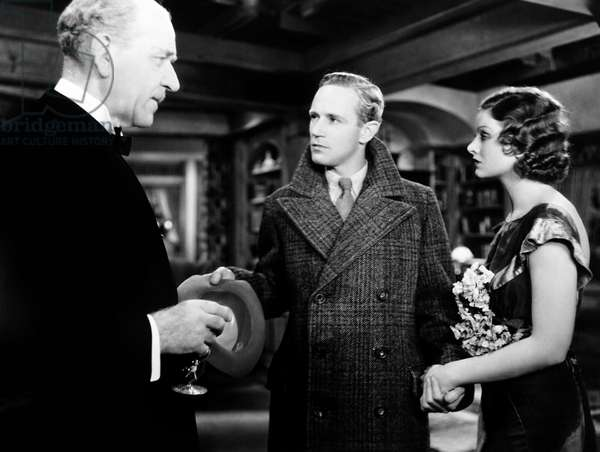 THE ANIMAL KINGDOM, from left, Henry Stephenson, Leslie Howard, Myrna Loy, 1932