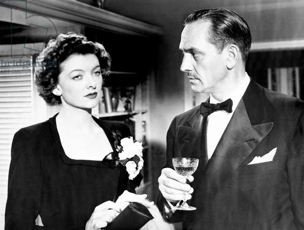 THE BEST YEARS OF OUR LIVES, from left, Myrna Loy, Fredric March, 1946
