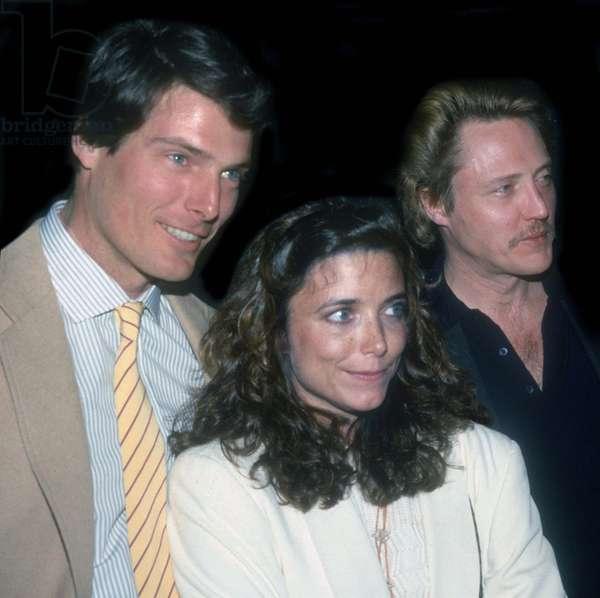 Christopher Reeve Karen Allen Christopher Walken, 1985 (photo)
