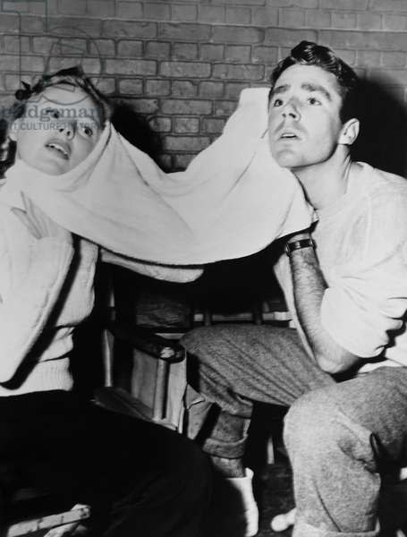 GOOD NEWS, from left: June Allyson, Peter Lawford after a dance rehearsal on set, 1947