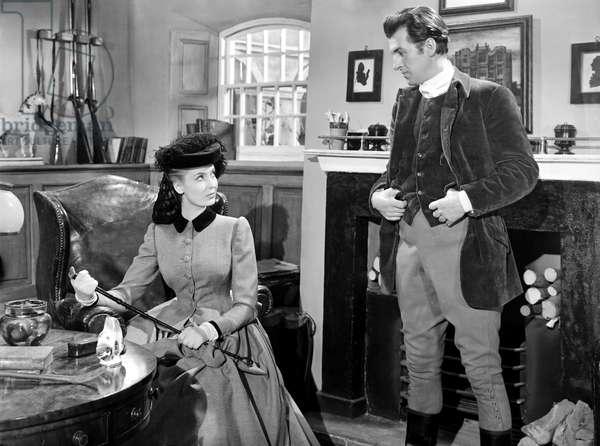 BLANCHE FURY, from left, Valerie Hobson, Stewart Granger, 1948