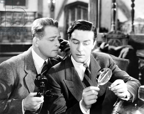 BULLDOG DRUMMOND ESCAPES, from left, Reginald Denny, Ray Milland, 1937