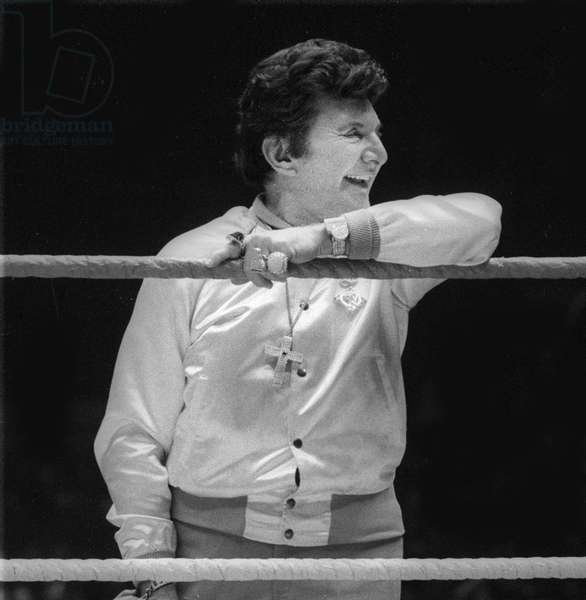 Liberace at Wrestlemania 1 in, 1985 (photo)