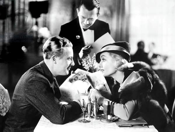 BRIEF MOMENT, from left, front, Gene Raymond, Carole Lombard, 1933