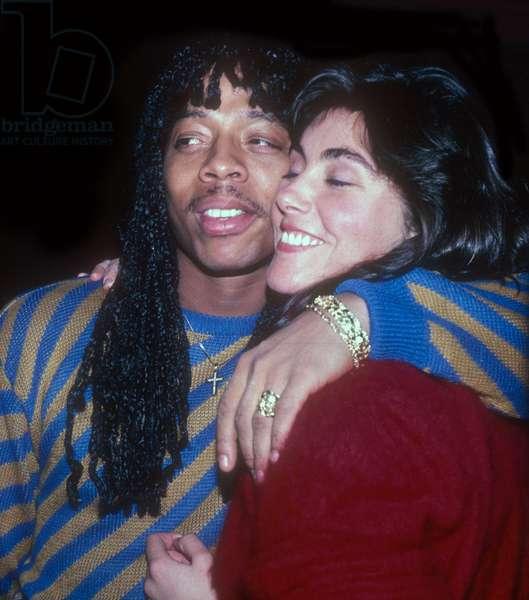 Rick James and Laura Branagan, 1985 (photo)