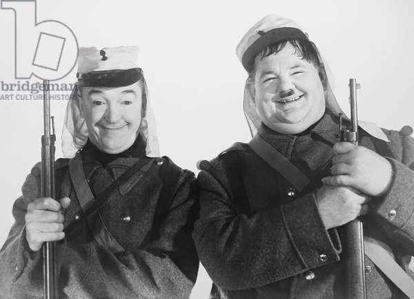 THE FLYING DEUCES, from left: Stan Laurel, Oliver Hardy, 1939