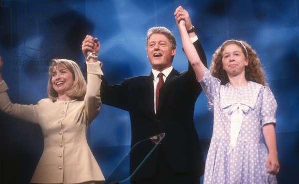 Hillary Bill Chelsea Clinton, 1992 (photo)