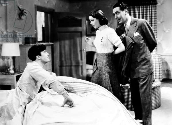 THE DOCTOR TAKES A WIFE, from left, Ray Milland, Loretta Young, Reginald Gardiner, 1940