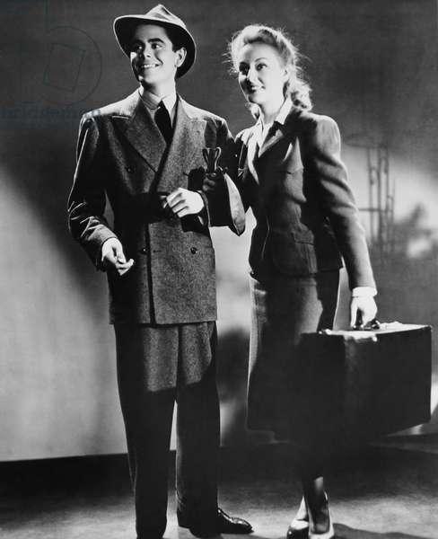 FRAMED, from left: Glenn Ford, Karen Morley, 1947