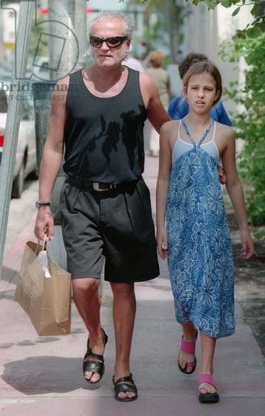 Gianni Versace and niece Allegra Versace, 1997 (photo)