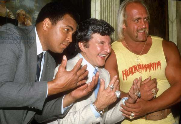 Muhammed Ali Liberace Hulk Hogan, 1985 (photo)