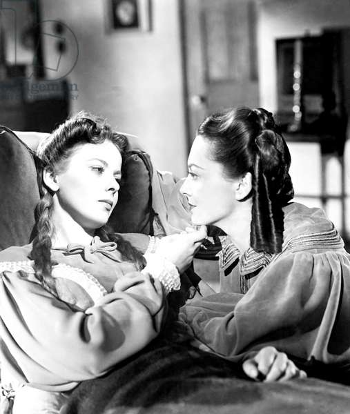 DEVOTION, from left, Ida Lupino, Olivia De Havilland, 1946