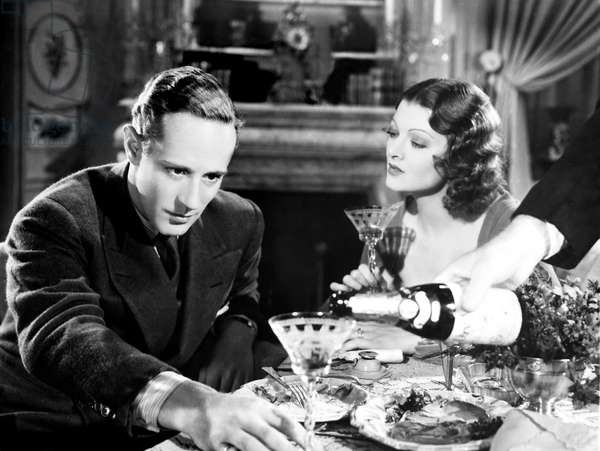 THE ANIMAL KINGDOM, from left, Leslie Howard, Myrna Loy, 1932