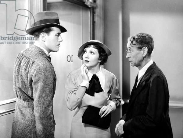 THE GILDED LILY, from left, Ray Milland, Claudette Colbert, Robert Dudley, 1935