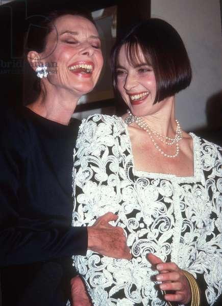 Audrey Hepburn and Isabella Rossellinii, 1983 (photo)