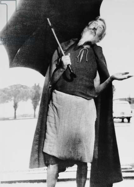 THE BIBLE, director John Huston hoping for rain on set, 1966