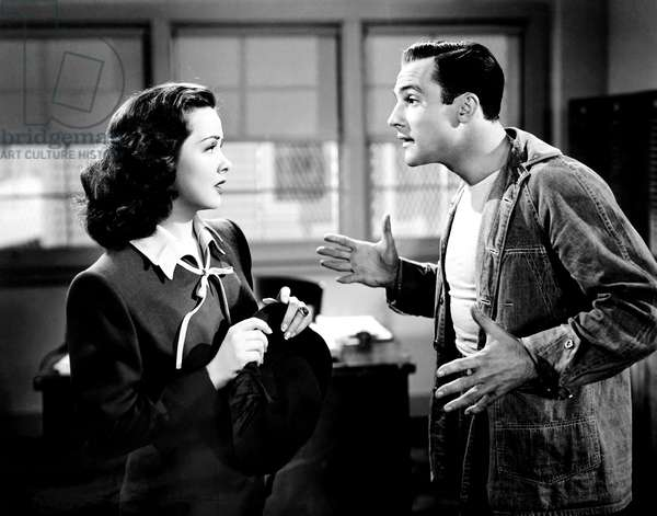 THOUSANDS CHEER, from left, Kathryn Grayson, Gene Kelly, 1943