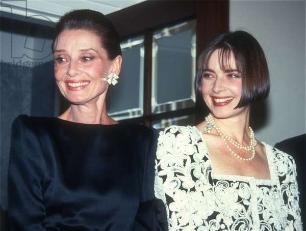 Audrey Hepburn and Isabella Rossellini, 1991 (photo)