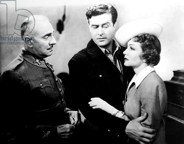 ARISE, MY LOVE, from left, Stanley Logan, Ray Milland, Claudette Colbert, 1940