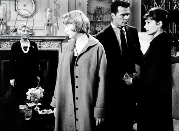 THE CHILDREN'S HOUR, from left, Fay Bainter, Shirley MacLaine, James Garner, Audrey Hepburn, 1961