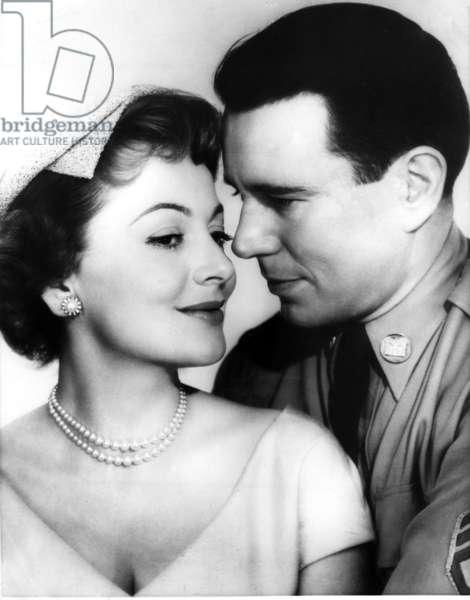 THE AMBASSADOR'S DAUGHTER, from left, Olivia de Havilland, John Forsythe, 1956