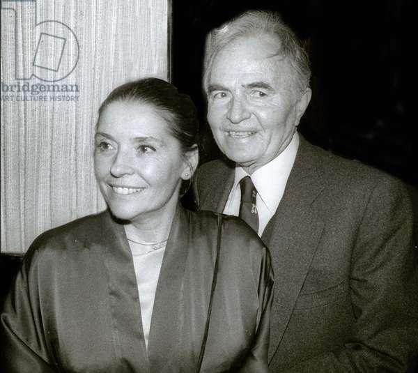 James Mason and wife Clarissa Kaye, 1982 (photo)