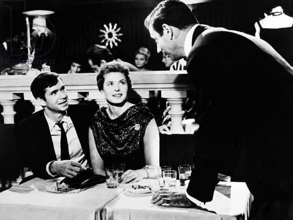 GOODBYE AGAIN, from left, Anthony Perkins, Ingrid Bergman, Yves Montand, 1961