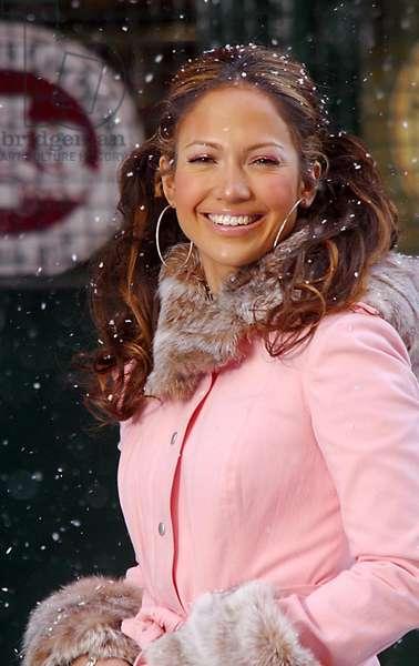 Jennifer Lopez Shooting Her New Music Video Hudson Street in New York City, 2002 (photo)