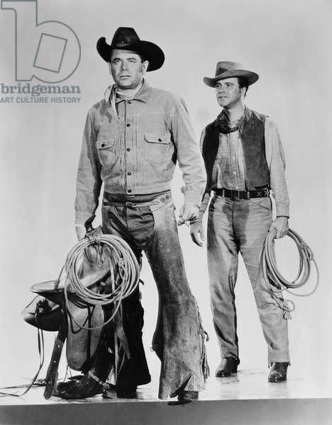 COWBOY, from left: Glenn ford, Jack Leommon, 1958