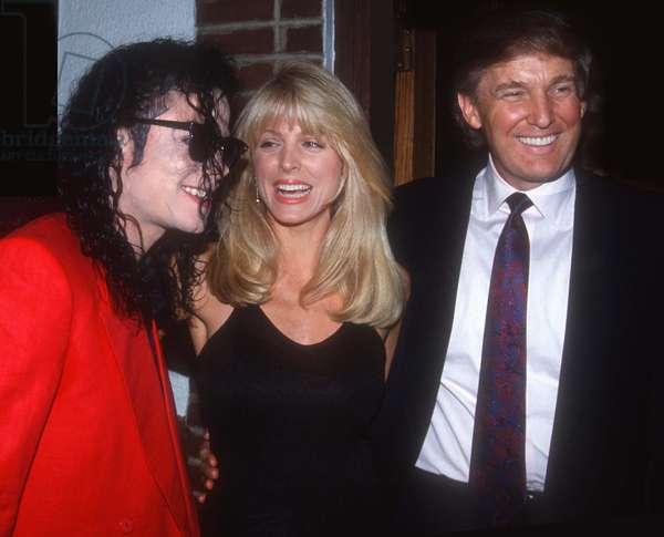Michael Jackson Marla Maples Donald Trump, 1992 (photo)