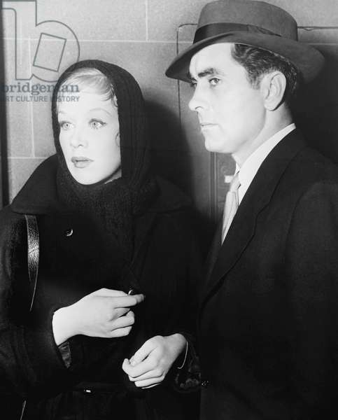 DIPLOMATIC COURIER, from left, Hildegard Knef, Tyrone Power, 1952