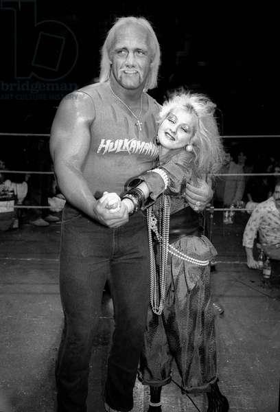 Hulk Hogan Cyndi Lauper, 1985 (photo)