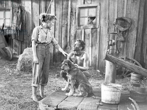 DEEP VALLEY, from left, Ida Lupino, Dane Clark, 1947