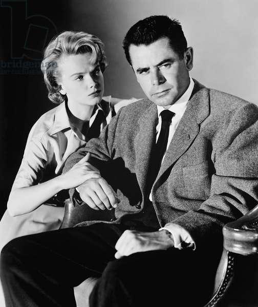 THE BLACKBOARD JUNGLE, from left: Anne Francis, Glenn Ford, 1955