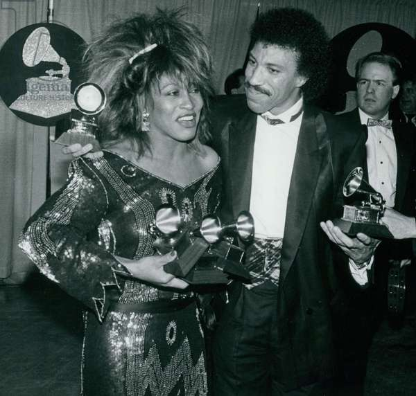 Tina Turner Lionel Ritchie, 1985 (photo)