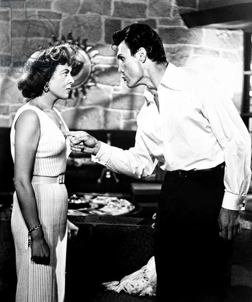 THE BIG KNIFE, from left, Ida Lupino, Jack Palance, 1955