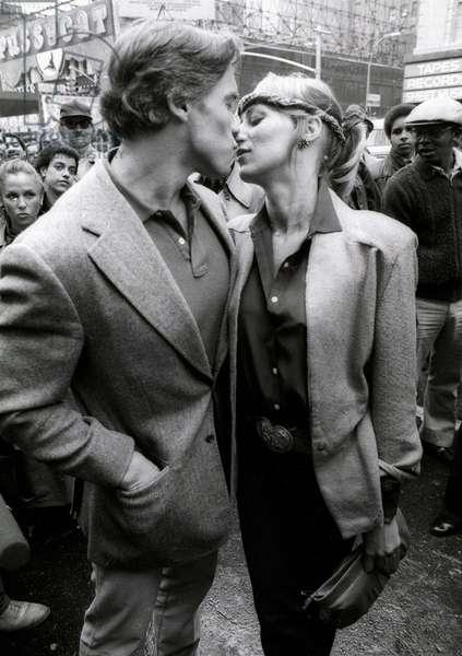 Arnold Schwarzenegger and Sandahl Bergmam, 1982 (photo)
