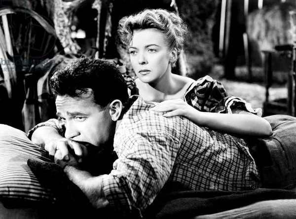 DEEP VALLEY, from left, Dane Clark, Ida Lupino, 1947